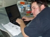 Paul Hacking Away