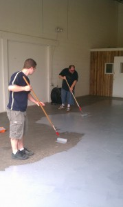 Painting Floors at Baltimore Hackerspace