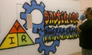 Baltimore Hackerspace Graffiti